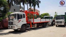 Xe tải Dongfeng B180 gắn cẩu tự hành 5 tấn KANGLIM KS1056